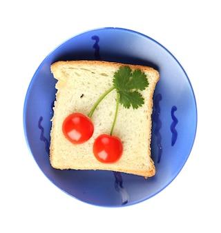 Leuk eten voor kinderen op wit