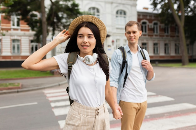 Leuk jong stel dat samen reist