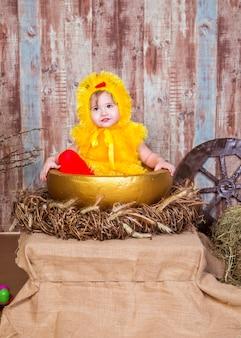 Leuk meisjesspel met echt konijn en eendje