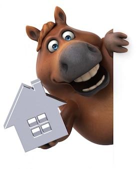 Leuk paard - 3d illustratie