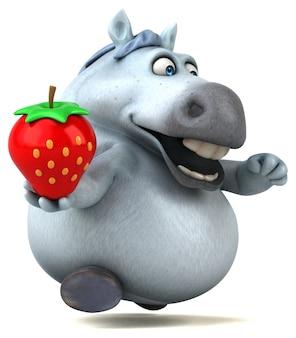 Leuk paard 3d illustratie