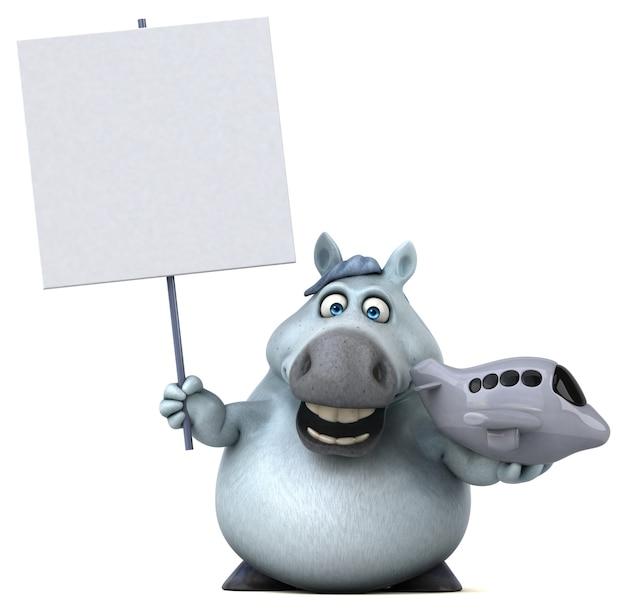 Leuk paard illustratie