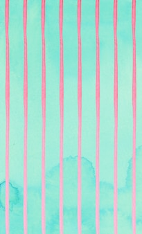 Leuk roze strepen abstract patroon op muntachtergrond.