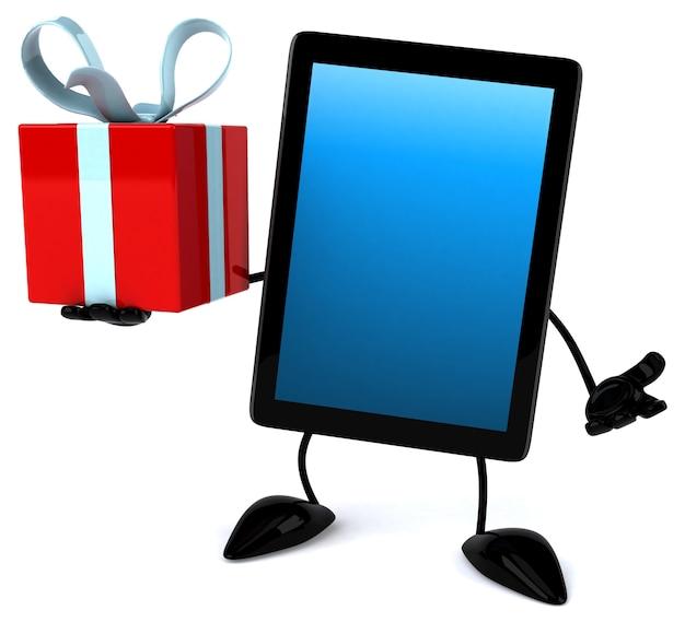 Leuk tablet 3d-teken
