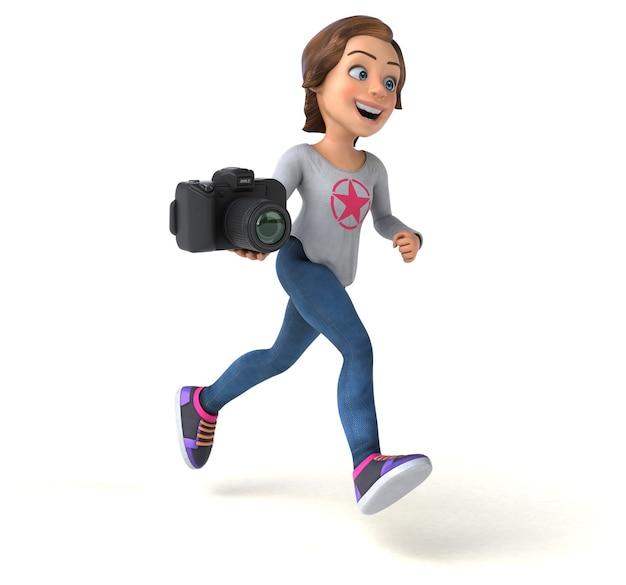 Leuke 3d-afbeelding van een cartoon tienermeisje