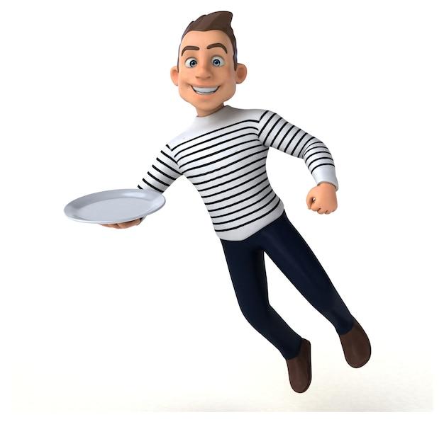 Leuke 3d-cartoon casual karakter