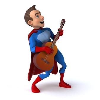 Leuke 3d illustratie van een leuke superheld