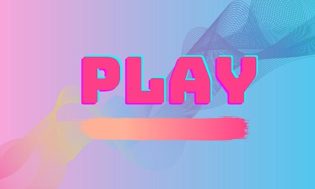 Leuke abstracte mooie afspeelknop met minimale roze blauwe achtergrond