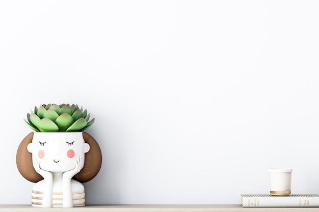 Leuke achtergrond voor je ontwerp met schattige bloem