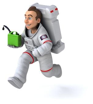 Leuke astronaut - 3d illustratie