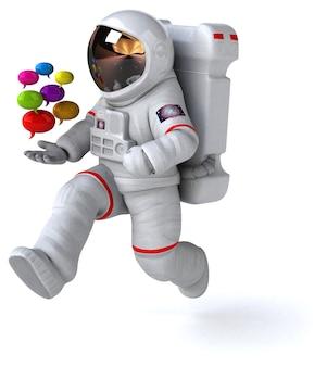 Leuke astronaut 3d illustratie