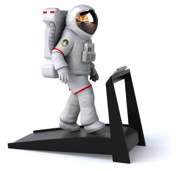 Leuke astronaut-animatie