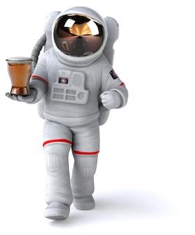 Leuke astronaut illustratie