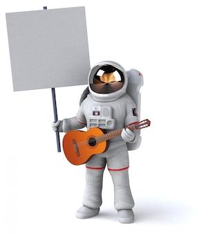 Leuke astronaut karakter - 3d illustratie