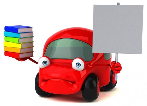 Leuke auto - 3d illustratie