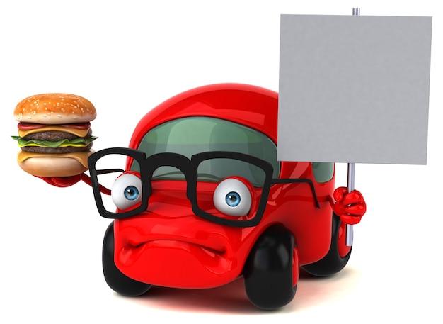 Leuke auto - 3d-personage