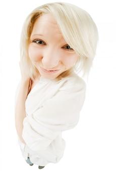 Leuke blonde tienermeisje