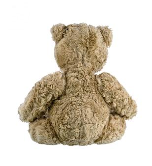 Leuke bruine geïsoleerde teddybeer