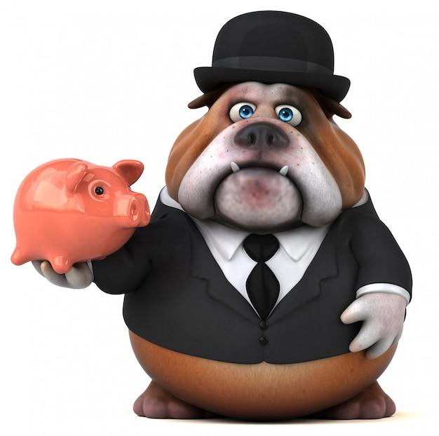 Leuke bulldog - 3d illustratie