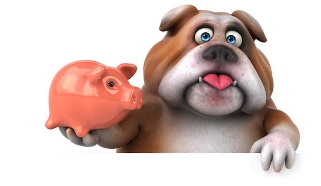 Leuke bulldog - 3d-personage