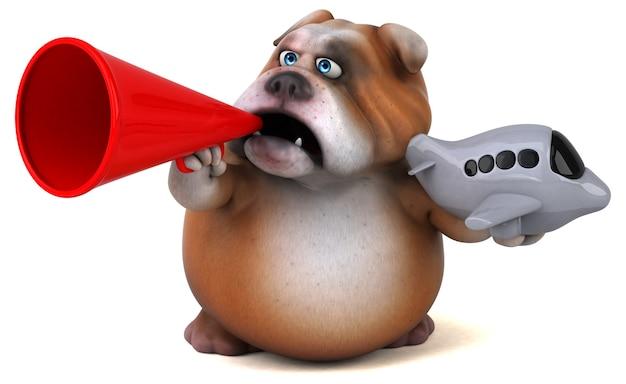 Leuke bulldog-animatie