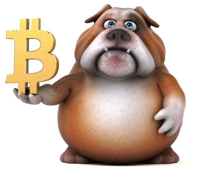 Leuke bulldog illustratie