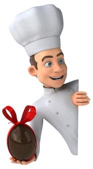 Leuke chef - 3d-karakter