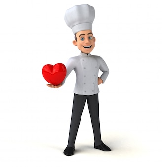 Leuke chef-kok animatie