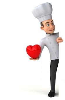 Leuke chef-kok Premium Foto