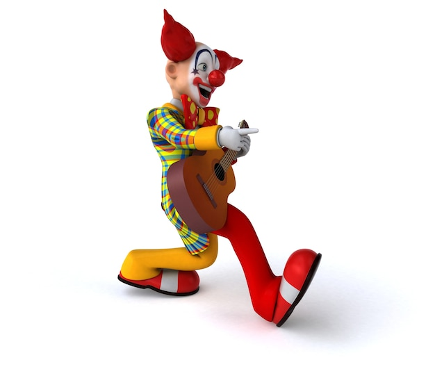 Leuke clown 3d illustratie