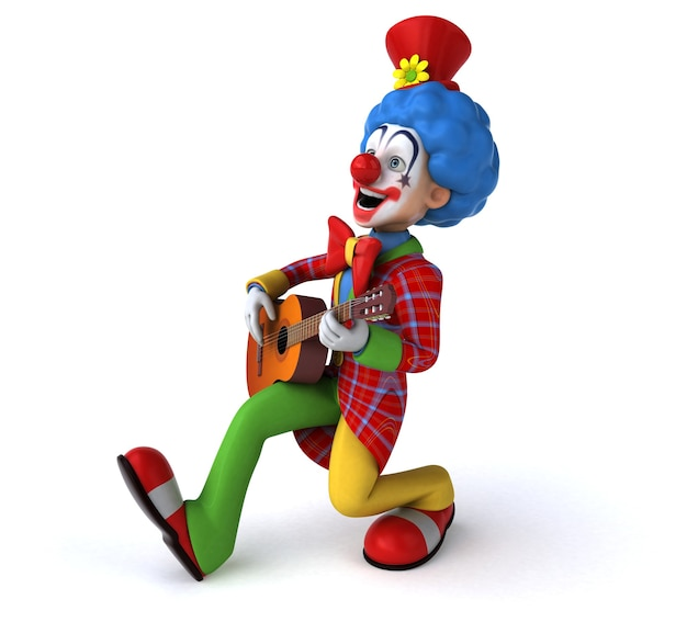 Leuke clown illustratie