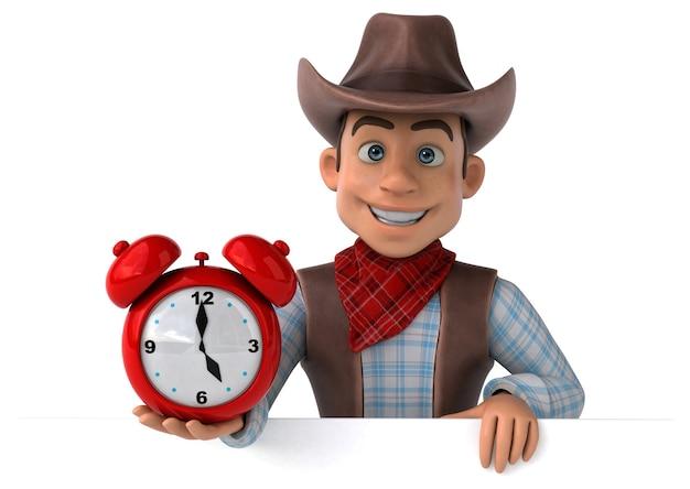 Leuke cowboy - 3d illustratie