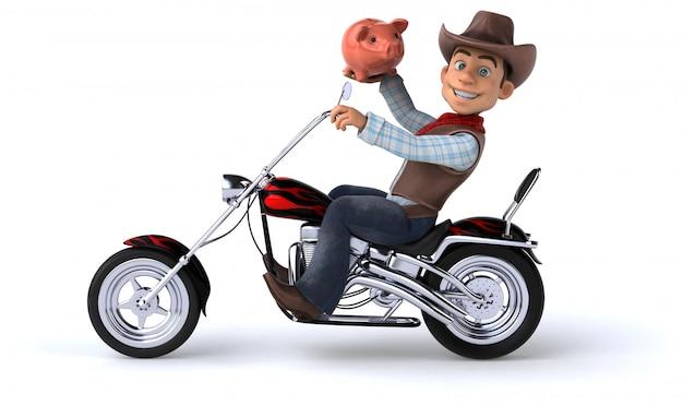 Leuke cowboy illustratie