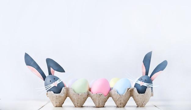 Leuke creatieve foto met paaseieren, wat eieren als de paashaas