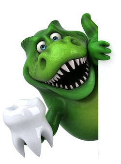 Leuke dinosaurus illustratie