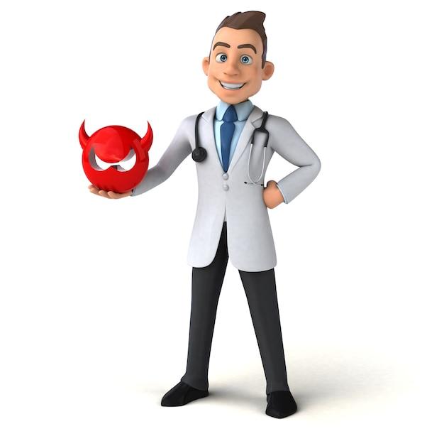 Leuke dokter illustratie