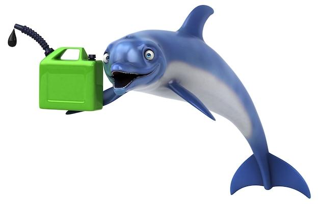 Leuke dolfijn - 3d illustratie
