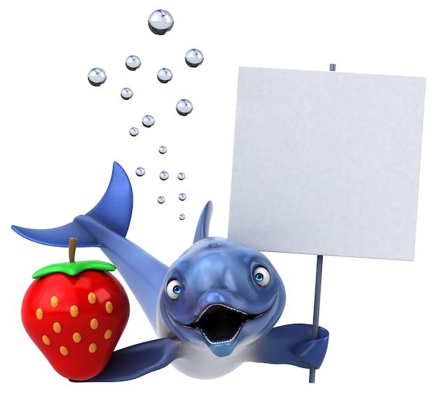 Leuke dolfijn 3d illustratie