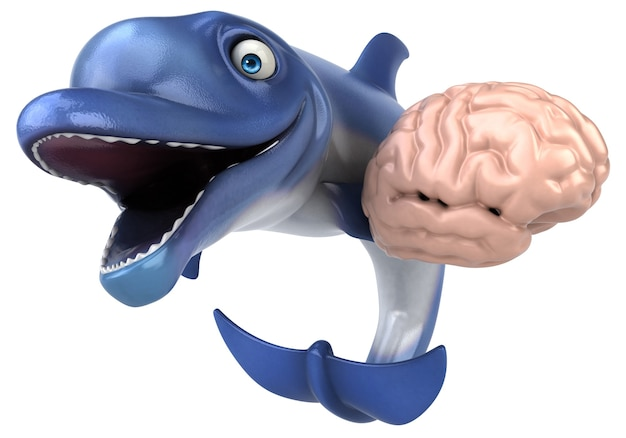 Leuke dolfijn illustratie