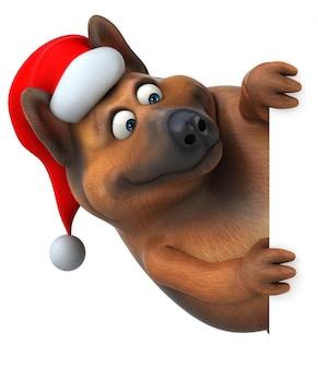 Leuke duitse herdershond 3d illustratie