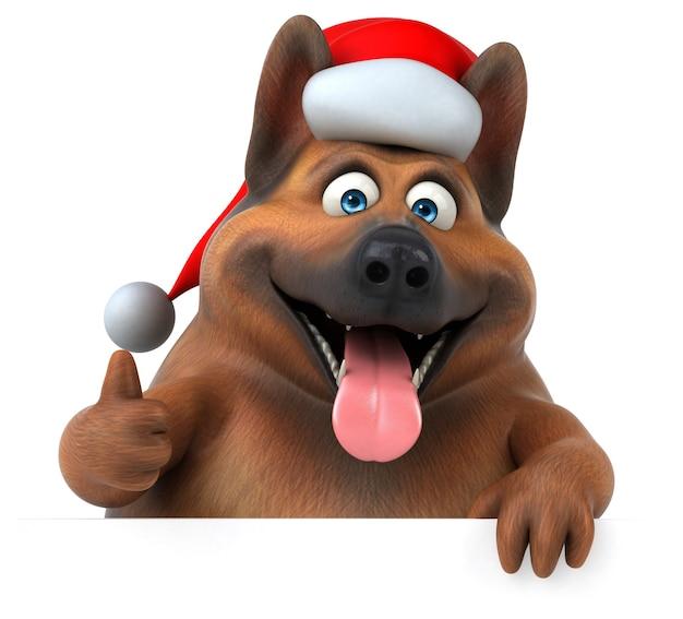 Leuke duitse herdershond - 3d illustratie