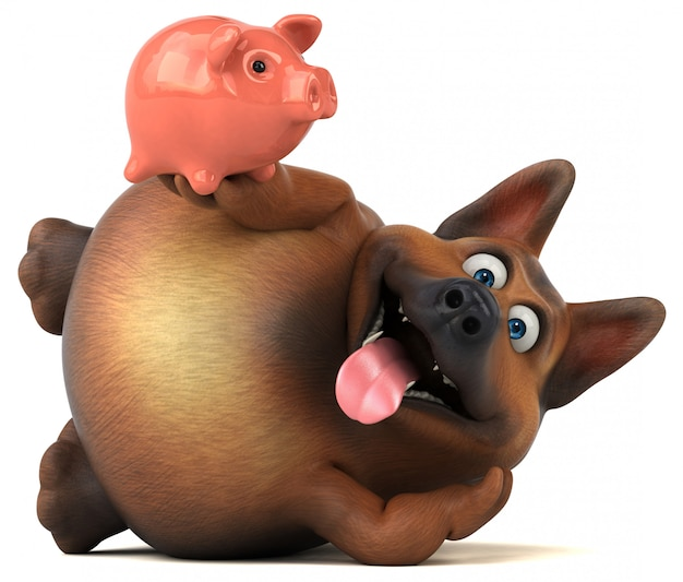Leuke duitse herdershond animatie