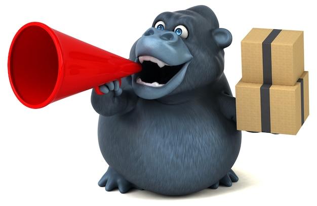 Leuke gorilla - 3d illustratie Premium Foto