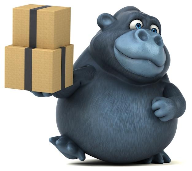 Leuke gorilla - 3d illustratie