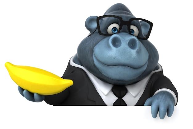 Leuke gorilla - 3d-personage