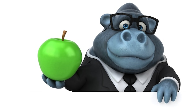 Leuke gorilla illustratie