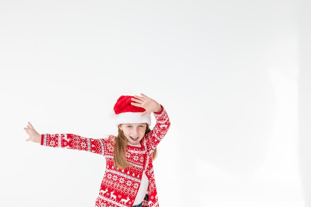Leuke grappige santa's helper dansen