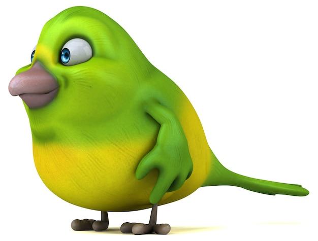 Leuke groene vogel illustratie