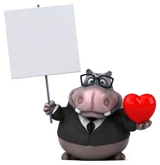 Leuke hippo illustratie