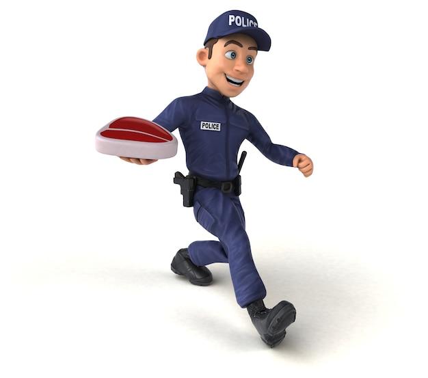Leuke illustratie van een cartoon politieagent